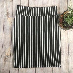 LulaRoe Black and White Striped Cassie Skirt